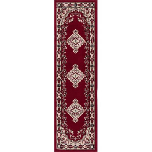 Charlton Home Bungalow Red Area Rug