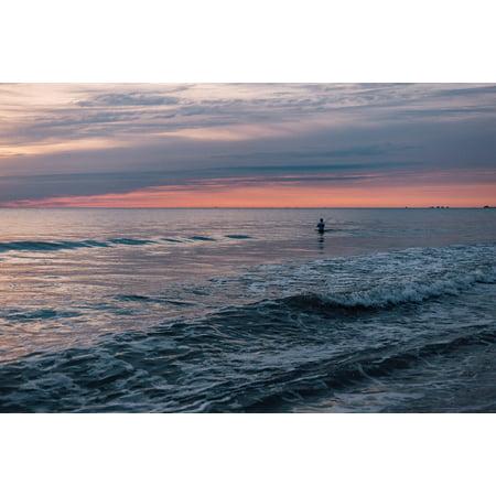 Ocean Waves Coast Nature Beach Sea Water Blue Poster Print 24 X 36