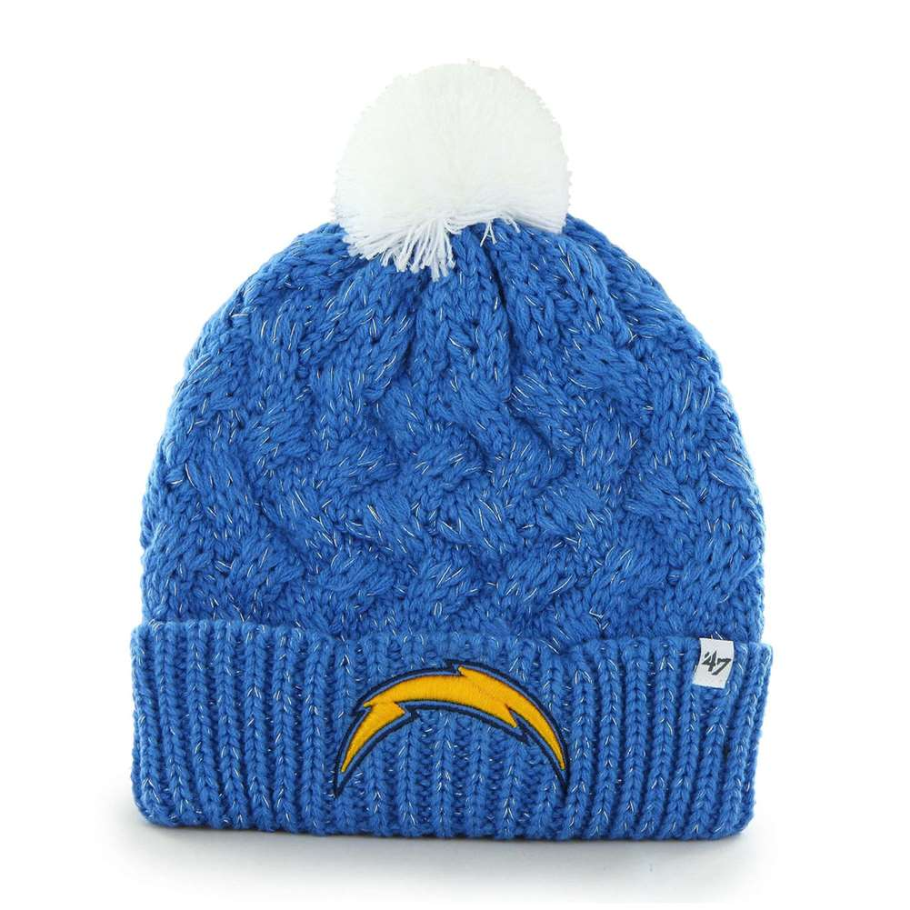 San Diego Chargers 47 Brand Womens NFL Fiona Cuff Knit Beanie