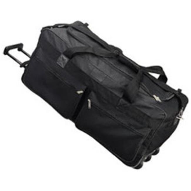 DDI 1475913 Rolling Duffel Bag 30 in. With 2 Pockets -Bla...