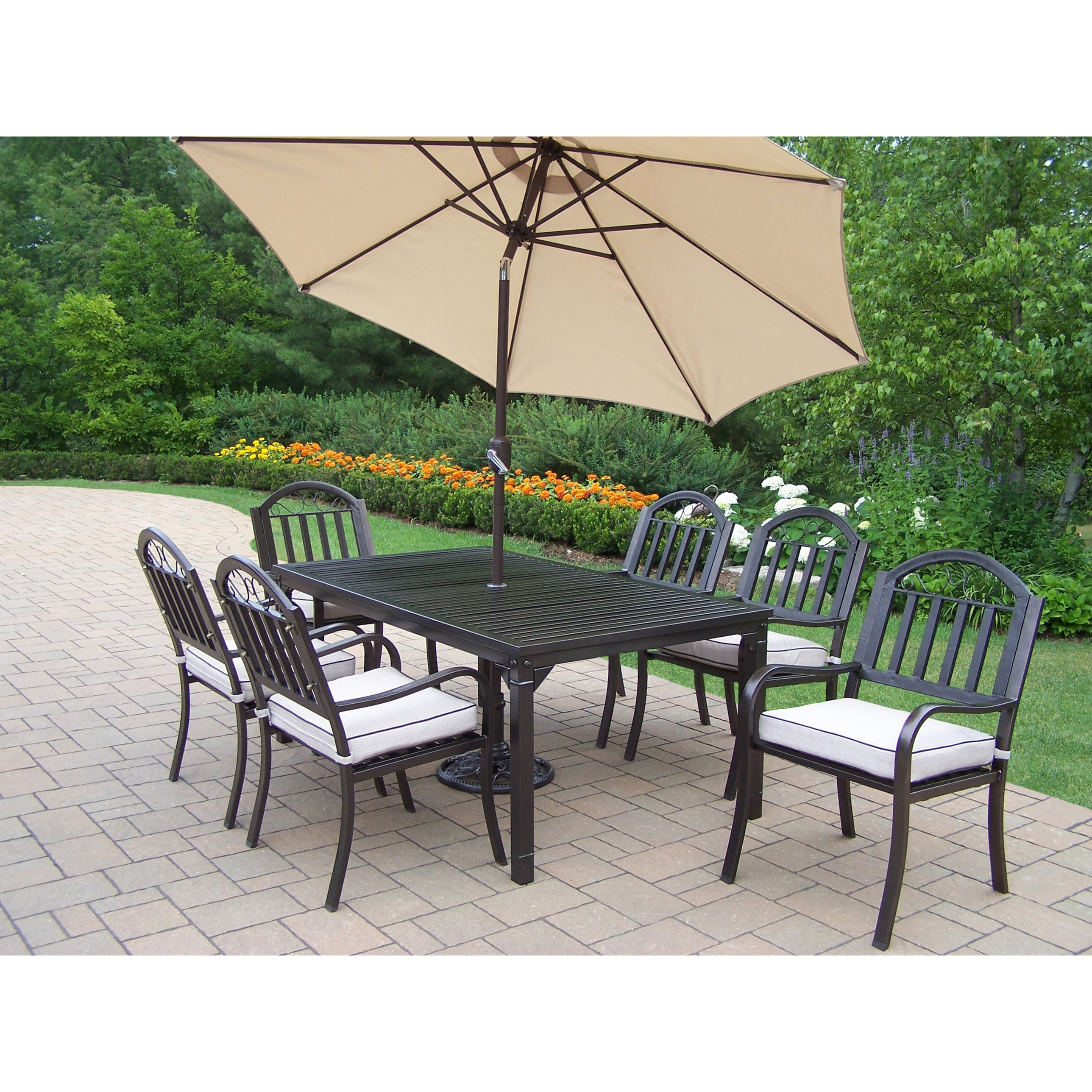 Oakland Living Corporation Hometown 9 Pc Dining Set with Rectangle Table