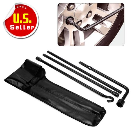 Replacement for 2005-2013 Toyota Tacoma Jack Spare Lug Wrench Tire Tool Kit w/ Bag (Tacoma Spare Tire Lock)