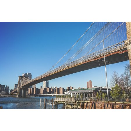 LAMINATED POSTER New York Bridge Brooklyn Bridge Famous Building Poster Print 24 x 36 (Famous Buildings New York)