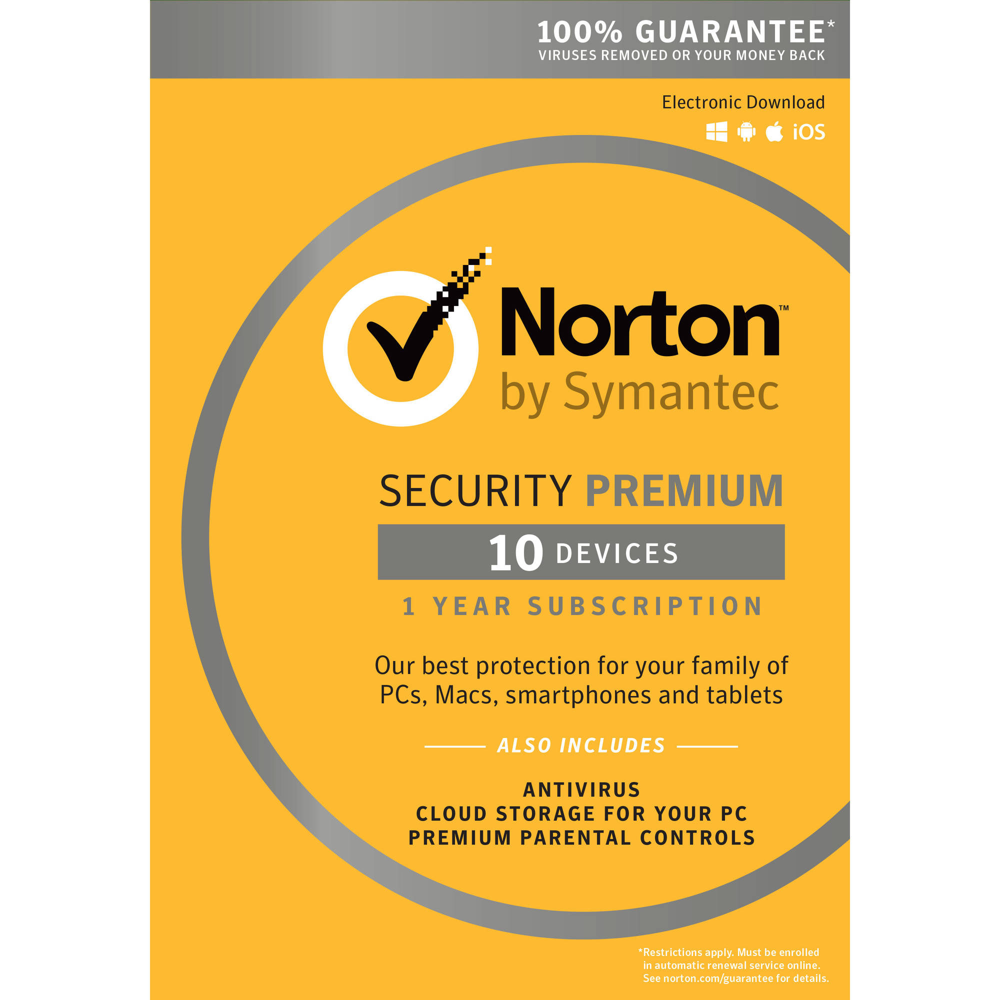Norton Security Premium, 1 User, 10 Devices, 1 Year