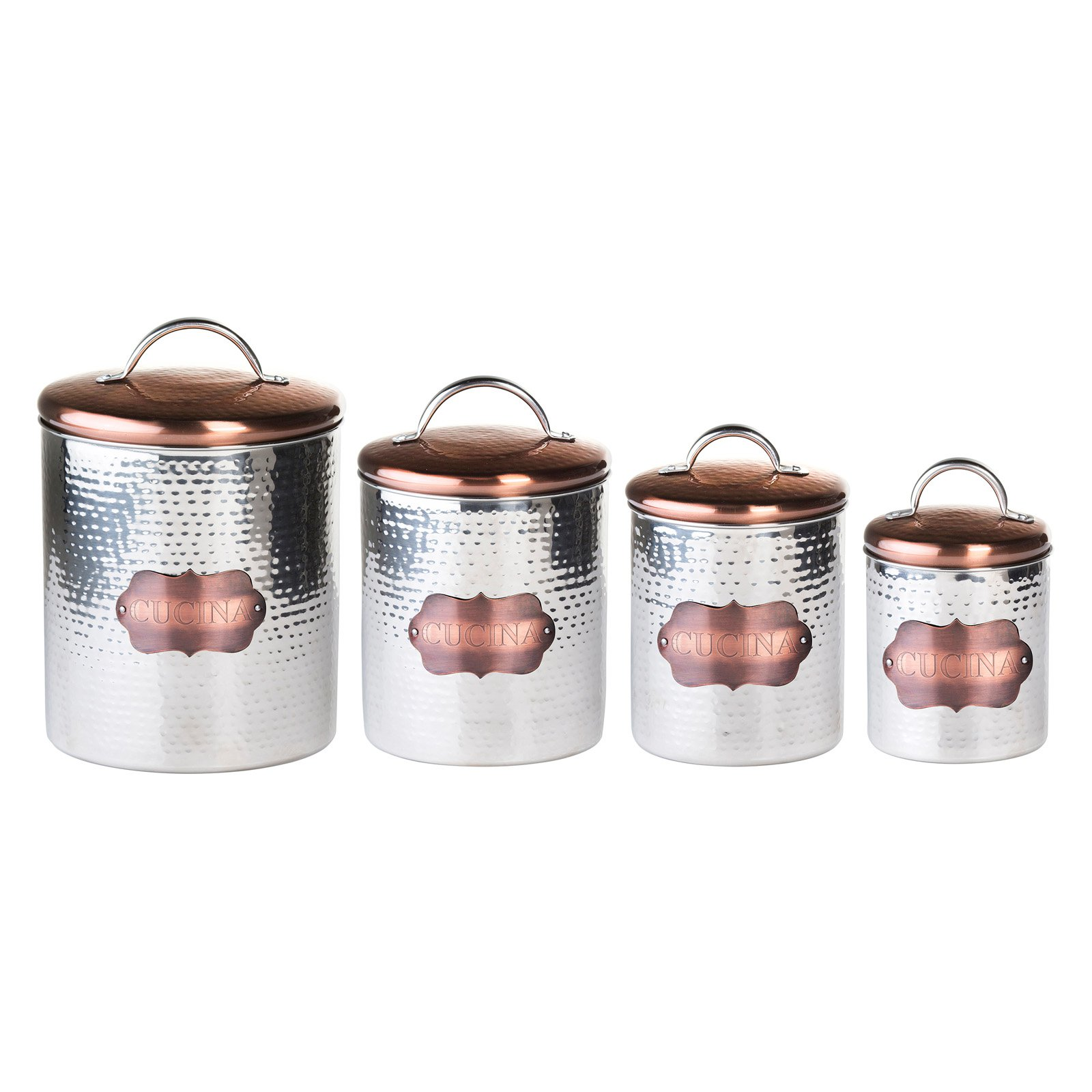 global amici cucina hammered metal canisters walmart com