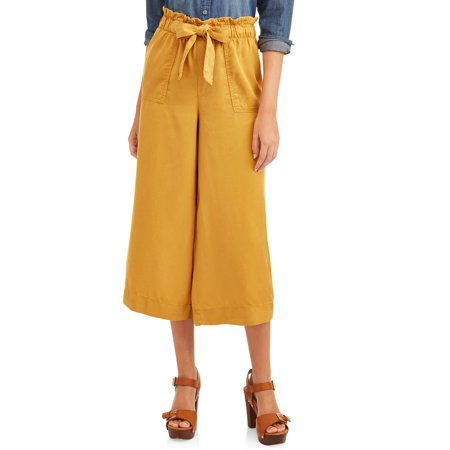 Time and Tru Paperbag Wide Leg Pant Women's (Best Place To Get Pants)