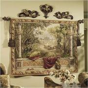Tapestries, Ltd. European Jacquard-woven Verdure Chateau Tapestry