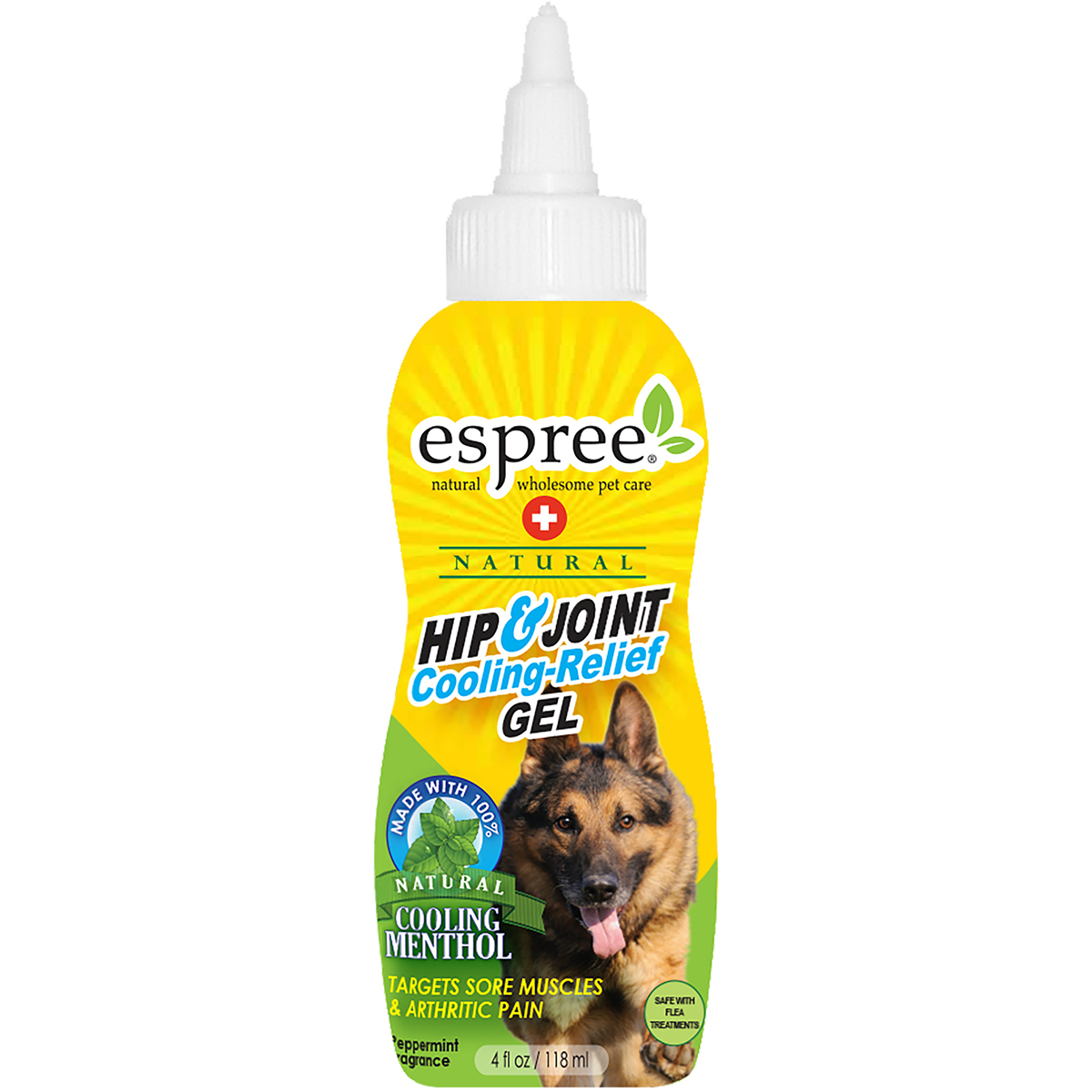 Espree Natural Hip & Joint Cooling Relief Gel 4oz-Peppermint