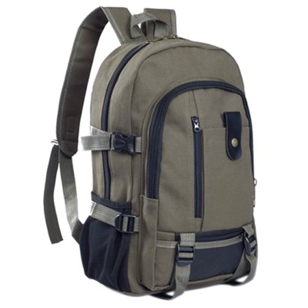Men's Multi Pockets Outdoor Hiking Canvas Backpack Casual Travelling Bag High-capacity Satchel Schoolbag