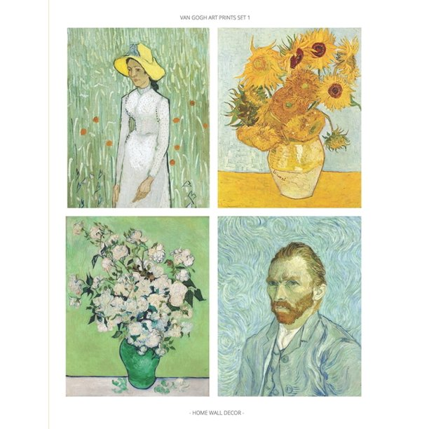 Van Gogh Art Prints Set 1 : Fine Art Prints, Home Wall Decor, Impressionist Paintings, Set of 6 Unframed 8x10 Posters, Artist Gift Idea for Office, Kitchen, Living Room, Dorm, Bedroom