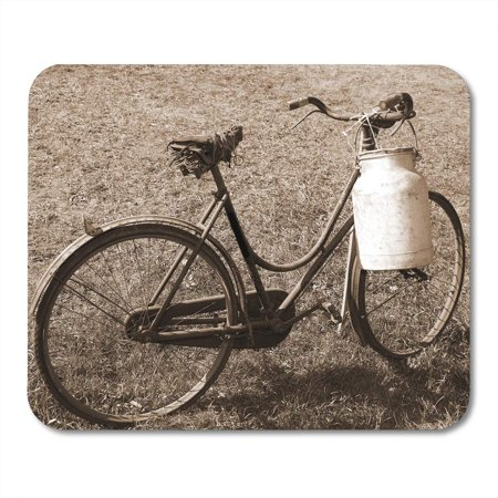 KDAGR Churn Old Bicycle Broken Saddle and The Milk Can Mousepad Mouse Pad Mouse Mat 9x10 (Old Saddle)