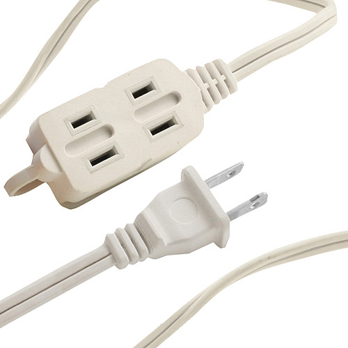 Axis 45507 3-Outlet Indoor Extension Cord, 12', White