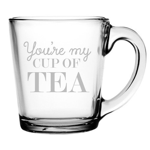 Susquehanna Glass You're My Cup of Tea Coffee Mug (Set of 4)