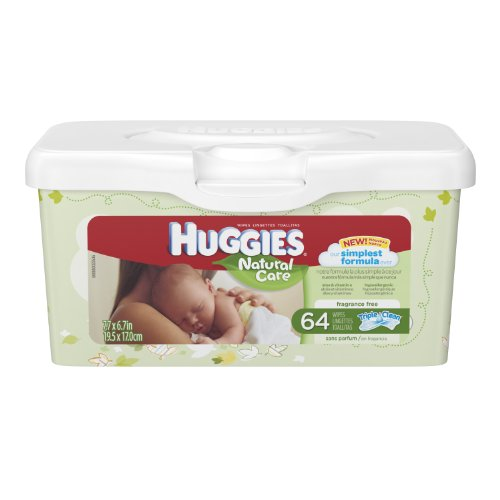 Huggies Natural Care Baby Wipes, 512 Total Wipes 64 Count (Pack of 8) by