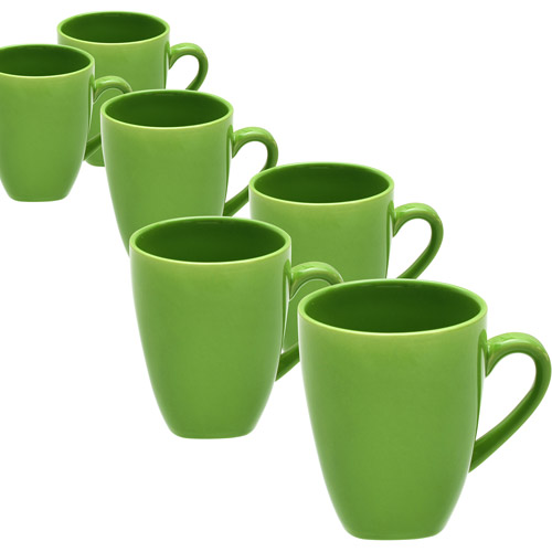 10 Strawberry Street Nova Square Mugs, Set of 6