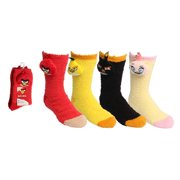 Angry Birds Ladies Travel Socks 'Softee' [4 styles in pack - 9-11 Sock Size and 6-10 Shoe Size]