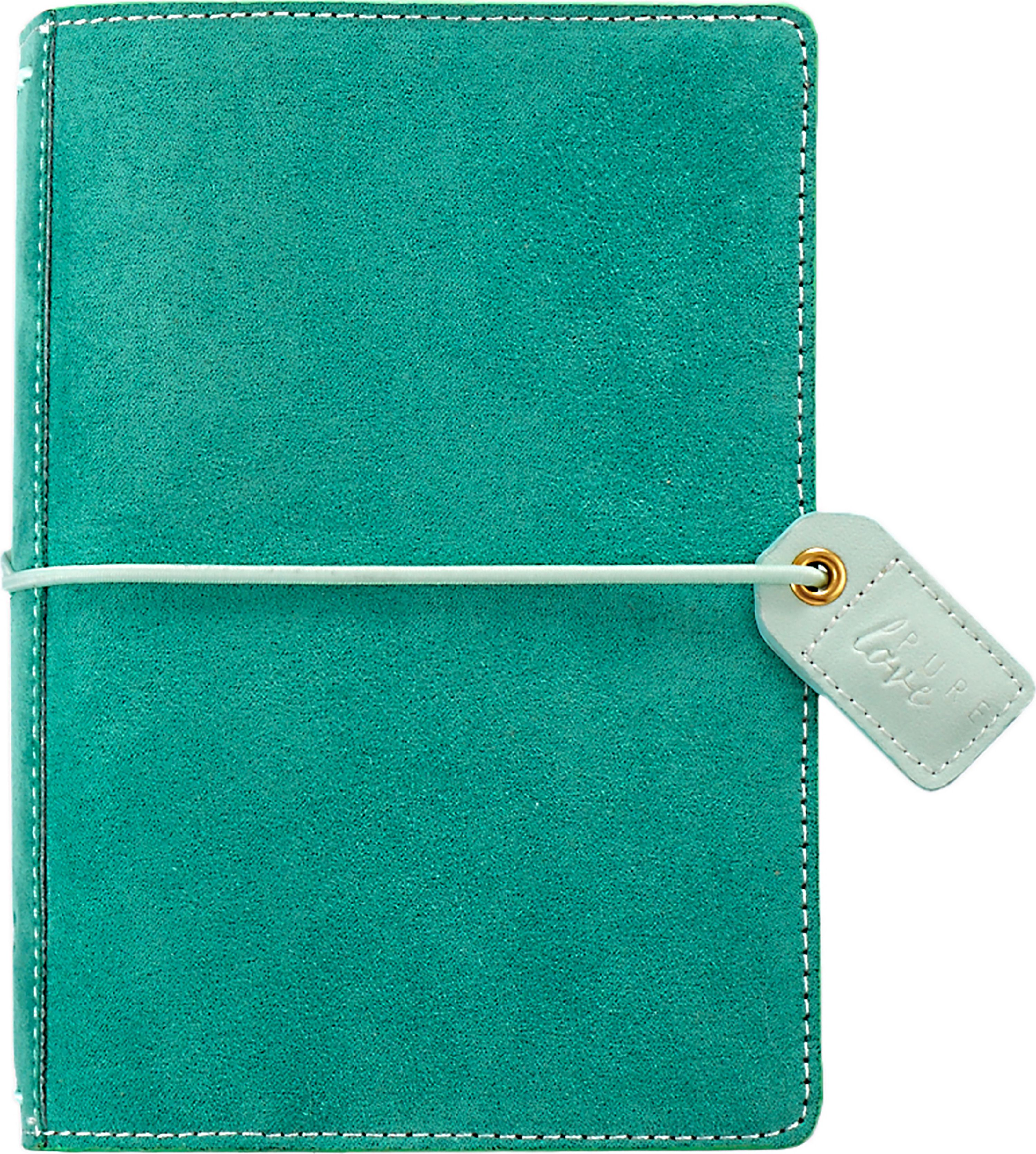 "Color Crush Pocket Traveler's Planner 4.25""X6""-Aspen Green Suede"