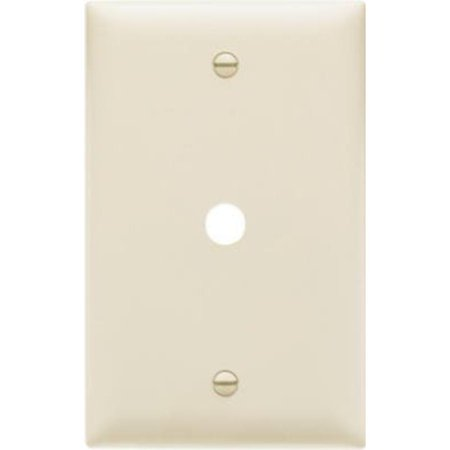 1-Gang Telephone Hole Opening Nylon Wall Plate, Almond Pass and (Holes Almond)