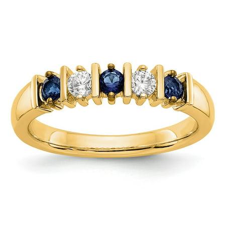 14k Yellow Gold Diamond and Diamond Engagement Ring 0.5 ct Size
