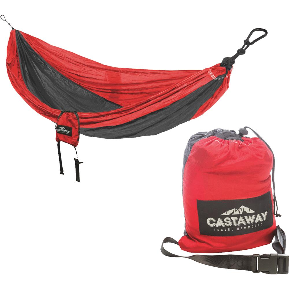 Travel Hammock - Double Red/Charcoal