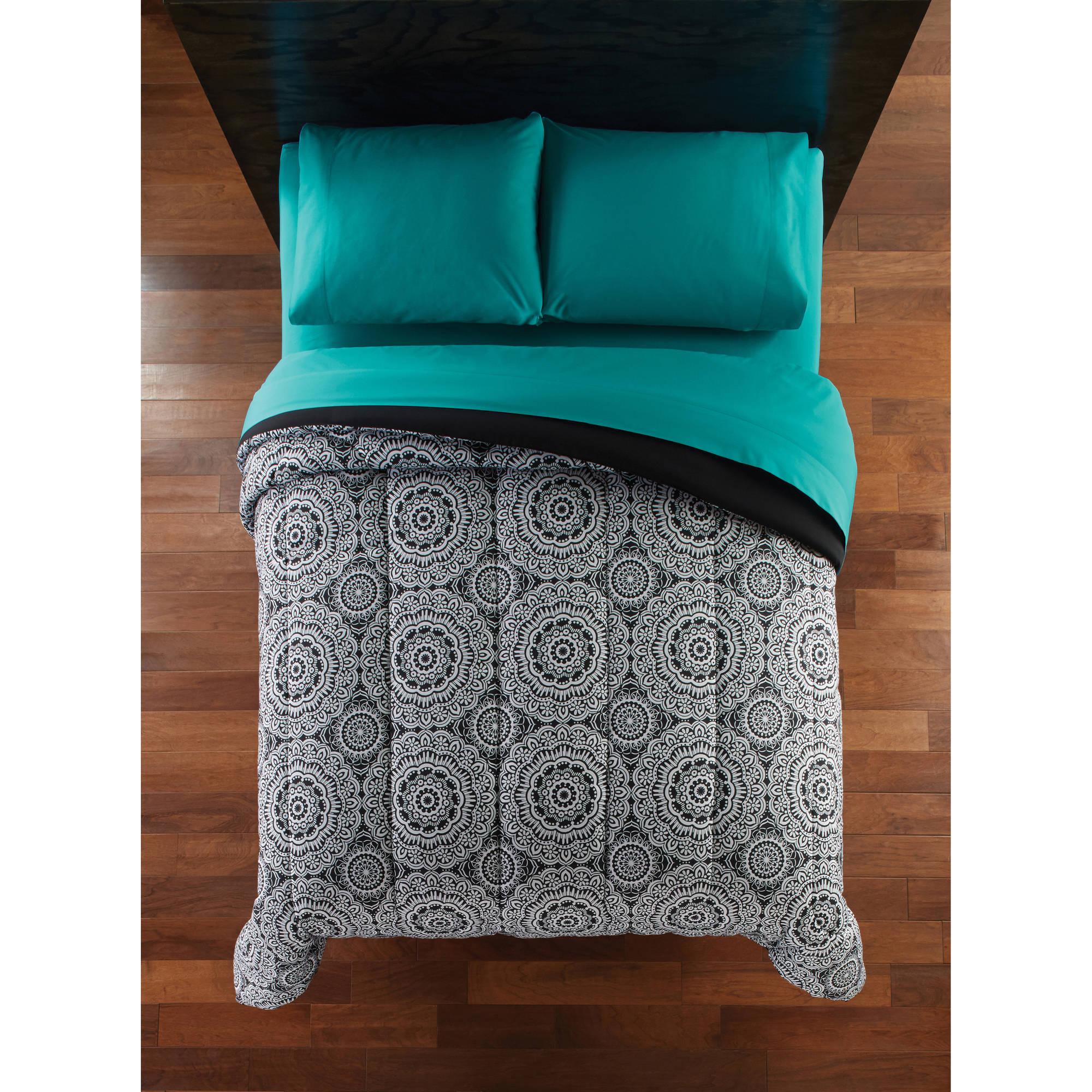 Mainstays Black Medallion Microfiber Bedding Comforter