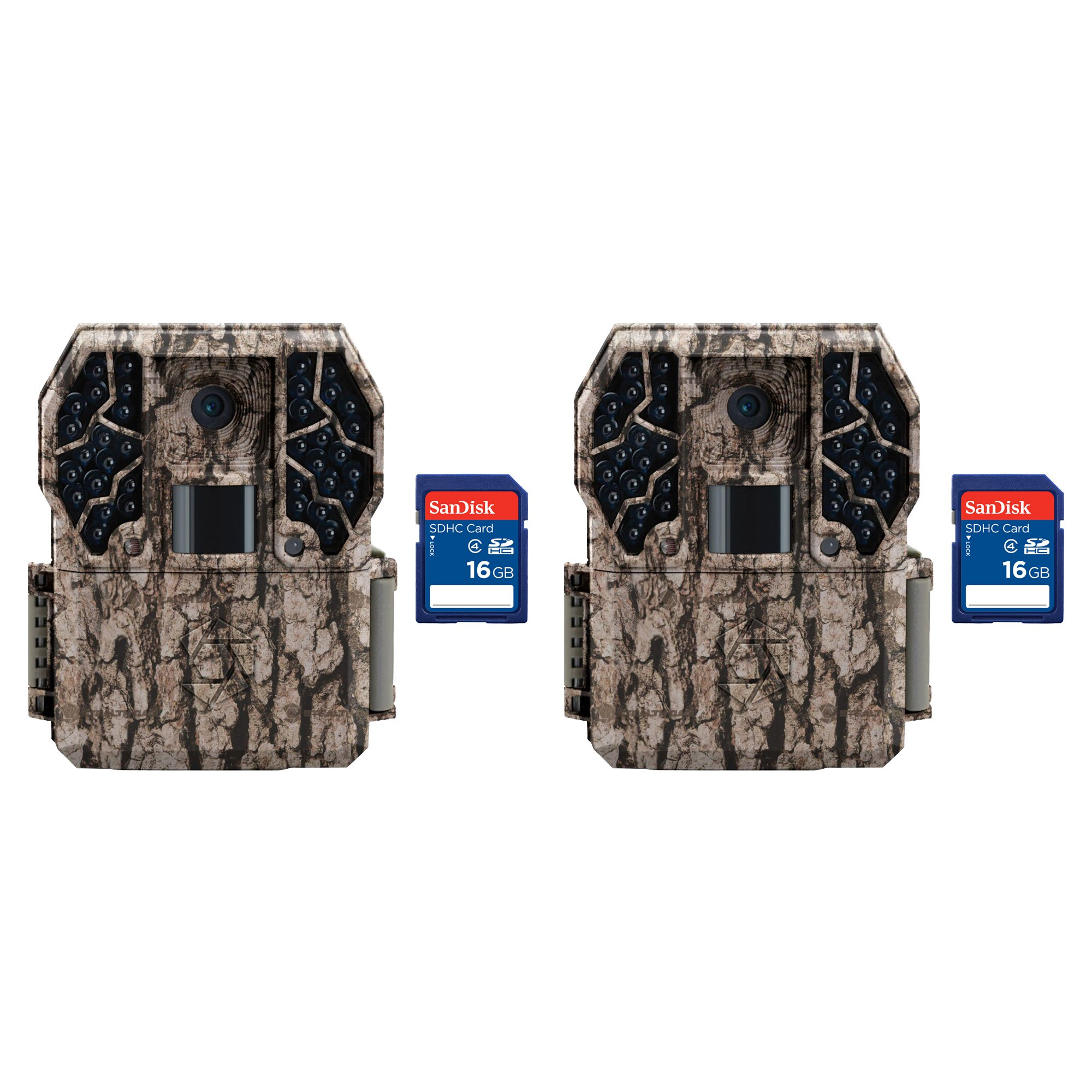 Stealth Cam Z36 No Glo 80' 10MP Video LCD Trail Game Camera, 2 Pack + SD Cards by Stealth Cam
