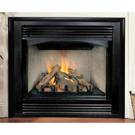 Black Interior 32 Propane Gas Electronic Stamped Louver Fireplace