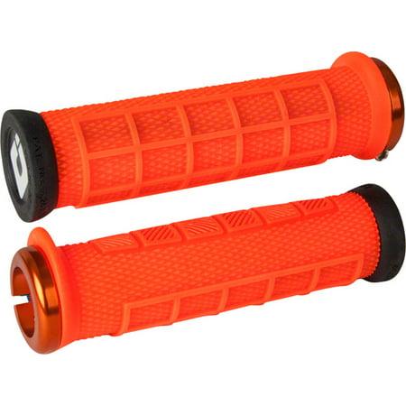 - ODI Elite Pro Lock-On Grips Orange with Orange Clamps