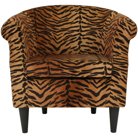 Nikole Club Chair - Tiger Print Auburn Tigers Adult Chair