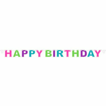 Customized Banner For Birthday ((4 Pack) Multicolor Happy Birthday Glitter)