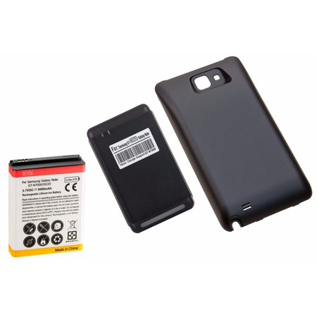 High Capacity Battery Door - 5000mAh High Capacity Battery + Black Door + Charger for Samsung Galaxy Note 1