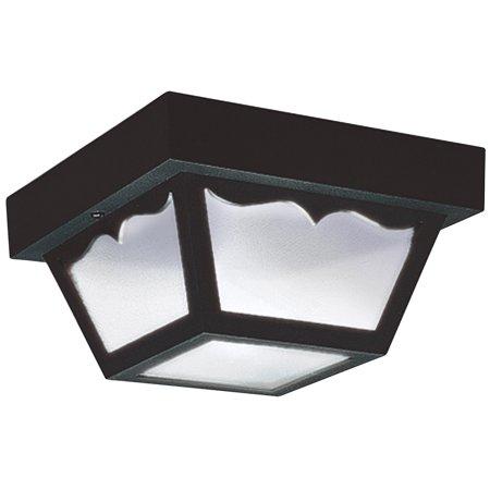 Sea Gull Lighting-7567-32-One Light Outdoor Flush Mount Clear Finish