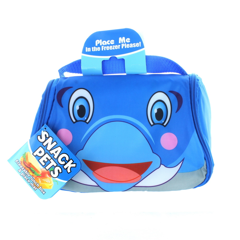 As Seen On TV Snack Pets Freezable Fun Lunch Box Flipper The Dolphin