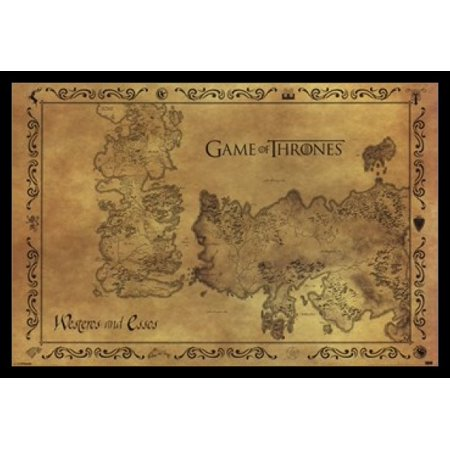 Game of Thrones - Antique Map Poster Poster Print (Game Of Thrones Season 5 Poster)