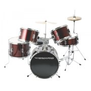 On-Stage DKJ5500-WR 5-Piece Junior Drum Set, Gloss Black