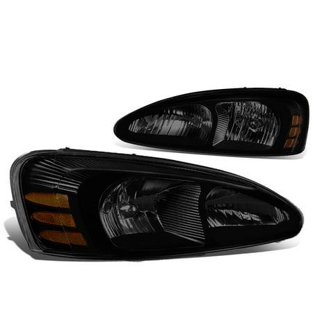 For 04-08 Pontiac Grand Prix Pair of Headlight  (Smoked Lens Amber Corner) - 7th gen W-body 1990 Pontiac Grand Prix Coupe