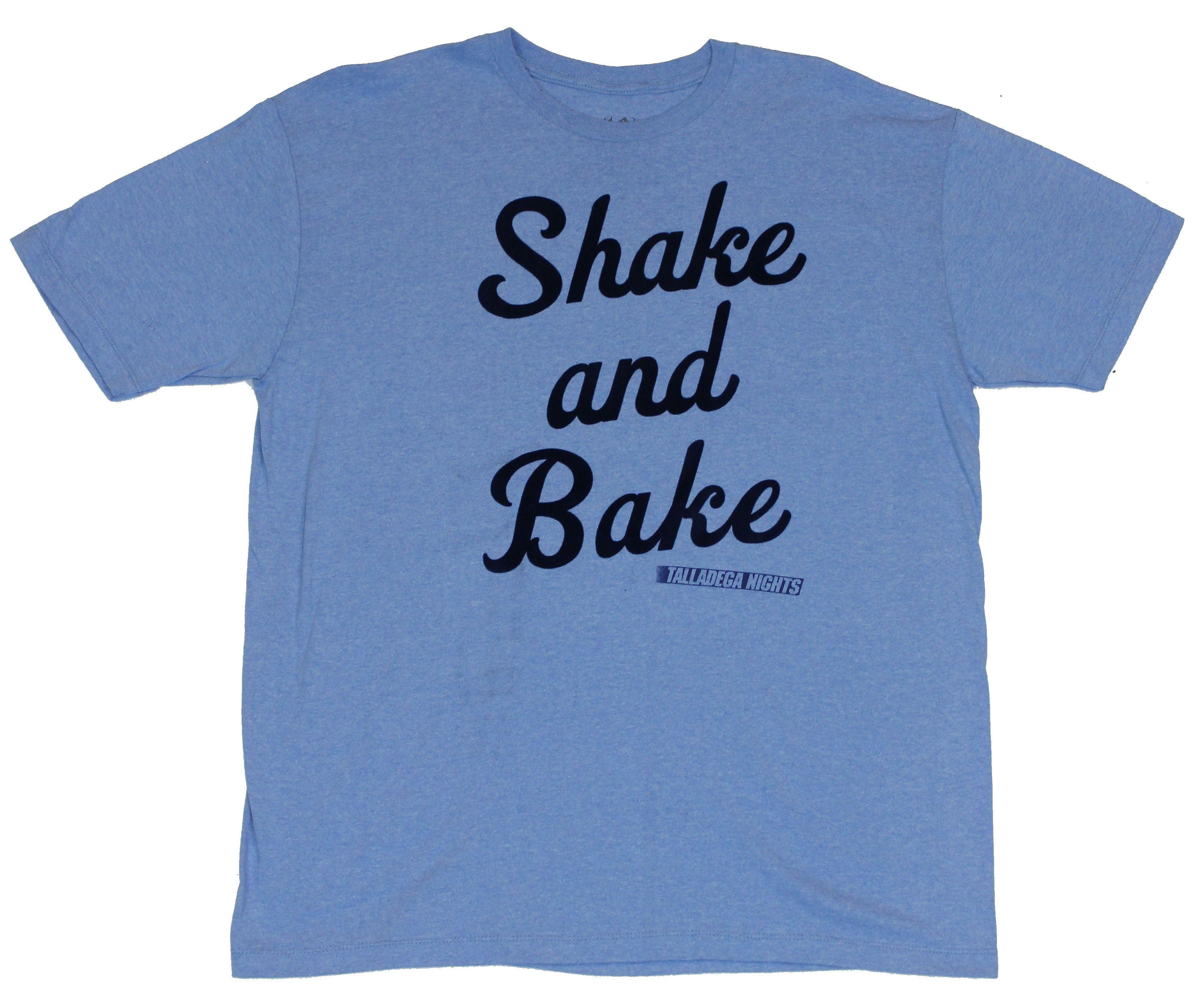 6a129b817 Talladega Nights - Talladega Nights Mens T-Shirt - Shake and Bake Raised  Felt Image - Walmart.com