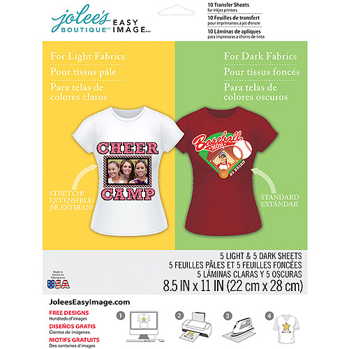 "Jolee's Easy Image Transfer Sheets, 8.5"" x 11"", 10pk"