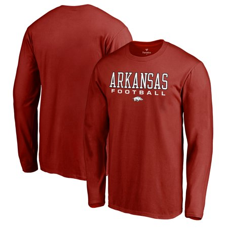 Arkansas Razorbacks Fanatics Branded True Sport Football Long Sleeve T-Shirt - Cardinal (Football Long Sleeve Sport Shirt)