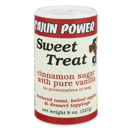 (2 Pack) Cajun Power Sweet Treat Cinnamon Sugar With Pure Vanilla, 8.0 OZ