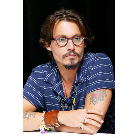 Johnny Depp 24X36 Poster With Glasses and (Johnny Depp Wearing Glasses)