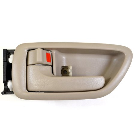 Front (Rear) Left Driver Side Interior Inside Door Handle Beige / Tan For 2001-2007 Toyota Sequoia; 2004-2006 Toyota Tundra (Crew Cab ONLY) (Toyota Sequoia Rear Door Latch)