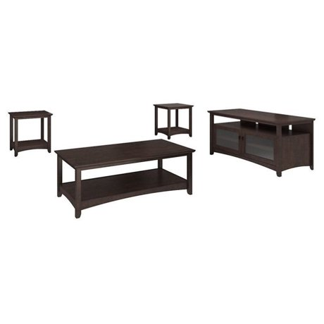 Bush Buena Vista Coffee Table Set With Tv Stand In Madison Cherry