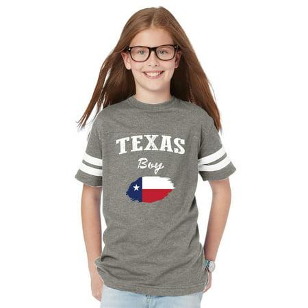 - Texas Boy Youth Football Fine Jersey Tee