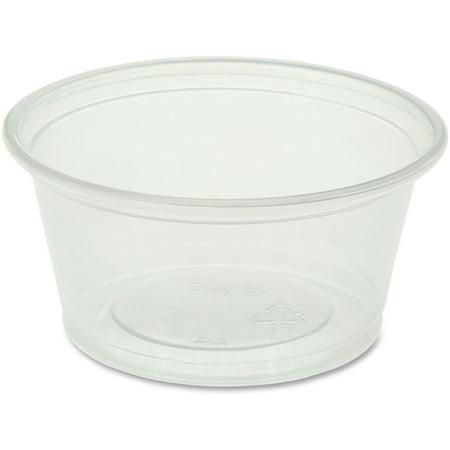 Genuine Joe, GJO19062, Portion Cups, 2500 / Carton, Clear, 2 fl - Portion Cups