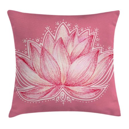 Ambesonne Chakra Lotus Meditation Yoga Pillow Cover