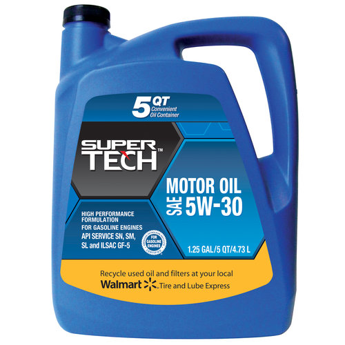 SuperTech 5W30 Motor Oil, 5-Quart