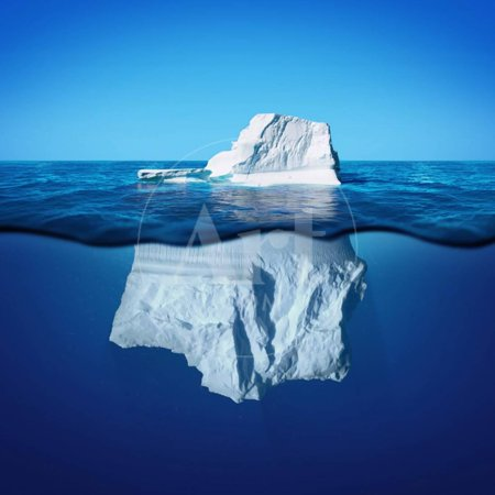 Underwater View of Iceberg with Beautiful Transparent Sea on Background Print Wall Art By Alones (Halloween Clip Art Transparent Background)