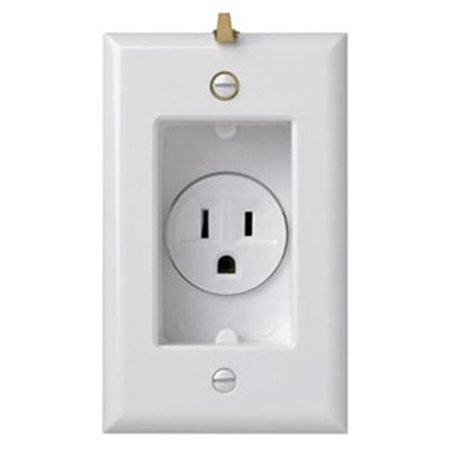 S3713W 15A Clock Hanger Receptacle - image 1 of 1