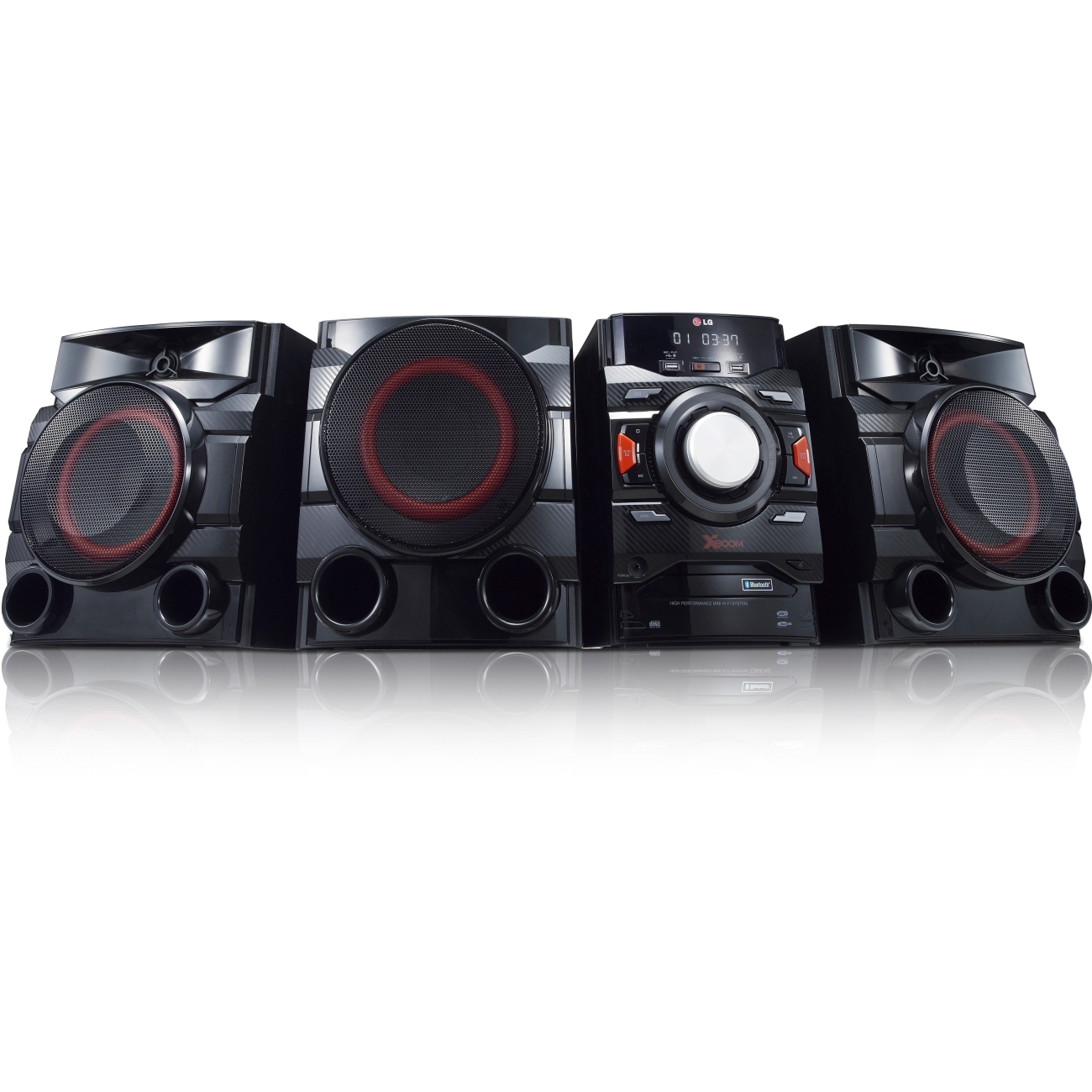 LG Electronics CM4550 700W 2.1 Channel Mini Shelf System with Built-in Subwoofer and Bluetooth